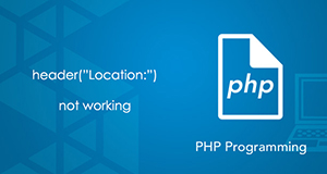 header location not working in php